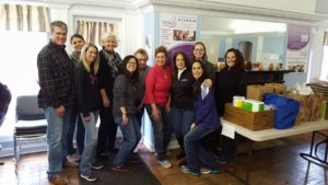 CWIR Members help sort at the WINGS facility in Mount Prospect